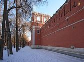 Donskoy Monastery surrounding wall. — Stock Photo