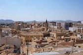 Panorama of Villena town, Spain. — Foto de Stock