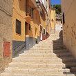 Old Narrow Street and Stairs Sidewalk in Biar Alicante Spain . — Stock Photo #41256559