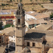 View of Biar town from the castle tower, Alicante, Spain. — Stock Photo