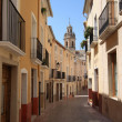 Old Narrow Street and Stairs Sidewalk in Biar Alicante Spain — Stock Photo #41686929