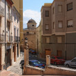 Old Narrow Street and Stairs Sidewalk in Biar Alicante Spain. — Stock Photo #41686971