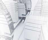 Sketch of the business center. — Stock Photo