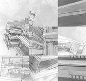 The city sketch. — Foto de Stock