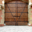 Foto Stock: Massive wooden door