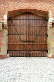 Masif ahşap kapı — Stok fotoğraf