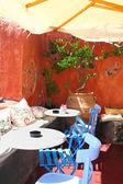 Greek cafe taverna — Stock Photo