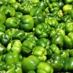 zelené papriky, vaření suroviny — Stock fotografie