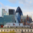 Stock Photo: Modern 30 St Mary Axe on April 30, 2012 in London