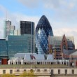 The modern 30 St Mary Axe on April 30, 2012 in London - Stock Photo