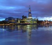 New london city hall's nachts — Stockfoto