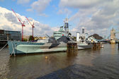 HMS Belfast — Stock Photo