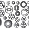 Gear sets on white - Imagen vectorial