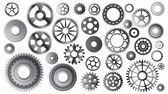 Gear sets on white — Stock Vector