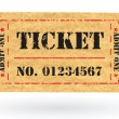 Old Vector vintage paper ticket with number - Stock Vector