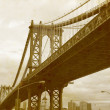 Bridge of New York City, U.S.A. - 图库照片