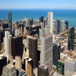 Chicago downtown aerial panorama - Stock Photo