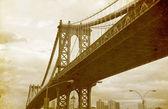 Bridge in new york city, verenigde staten. — Stockfoto
