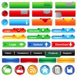 Royalty-Free Stock Vector Image: Web buttons collection