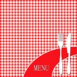 Red picnic cloth - Imagens vectoriais em stock