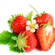 Fresh ripe strawberry on white background — Stock Photo