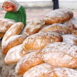Fresh baked bread at the country market — Stock Photo