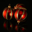 Red glass ornament — Stock Photo #3002906