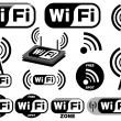 Vector collection of wi-fi symbols — Stock Vector #3052790