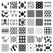 Set of monochrome geometric seamless patterns — ベクター素材ストック