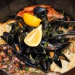 Seafood in the pot — Stock Photo