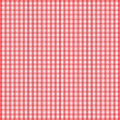 Seamless retro white-red square tablecloth — Stock Vector