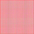 Stock Vector: Seamless retro white-red square tablecloth