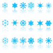 Blue snowflakes — Stock Vector