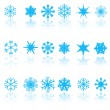 Blue snowflakes — Stock Vector #36708393