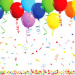 Happy birthday background with balloons — Vector de stock #36769541