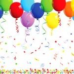 sfondo di buon compleanno con palloncini — Vettoriale Stock