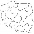 Stock Vector: Map of Poland