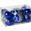 Packed in transparent plastic box Christmas balls — Stock Photo