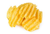 Pile of potato chips — Stock Photo