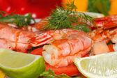 Smažené krevety — Stock fotografie