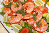 Fried prawns — Stock Photo