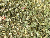 Background with loose herbal tea — Stock Photo