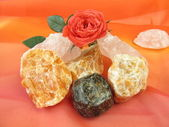 Gemstone mix for water revitalization love and harmony — Stock Photo
