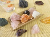 Gemstone for water revitalization — Stock Photo