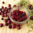 Stock Photo: Cranberry compote