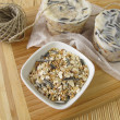 Homemade birdseed dumplings — Stock Photo