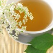 White tea with elderflower — Stock Photo