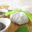 Stockfoto: Bath teabag with herbs