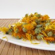 Dried marigold flowers — Stock Photo