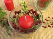 Making candles decoration — Stock Photo